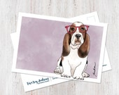 Cute Basset Hound wearing...