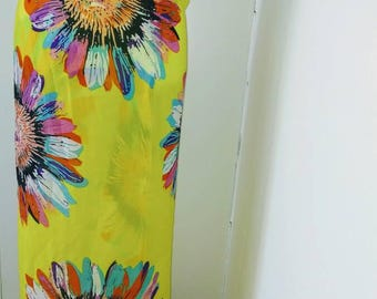 Bright yellow / multi sarong