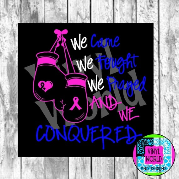 Breast Cancer Fighting Boxing Gloves Cut File for Cricut Silhouette SVG DXF EPS pdf png jpeg studio Print or Cut Studio