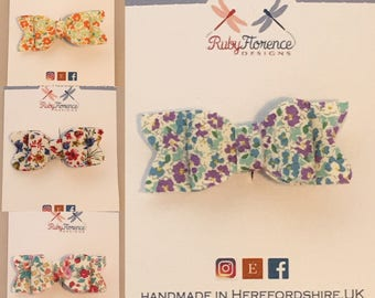 Mini fabric floral bows