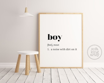 Boy Definition // Kids Room Art // Nursery Printable Art // Baby Boy // Definition Art