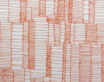 Ladder Lines in Tangerine - Doe by Robert Kaufman Cotton Fabric Fat Quarter