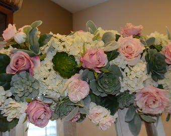 Wedding arch, Rose Arch, Succulent Arch, Wedding Arch, Floral Arch, Silk flower Arch, Cream Wedding Arch, Flower Arch, Wedding Decor, Weddin