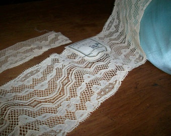 French vintage butter pure cotton lace lovely design