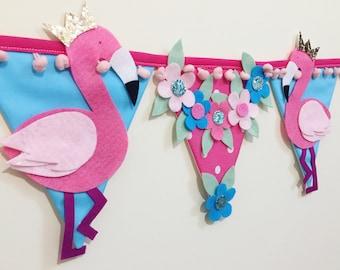 Flamingo bunting - flamingo decoration