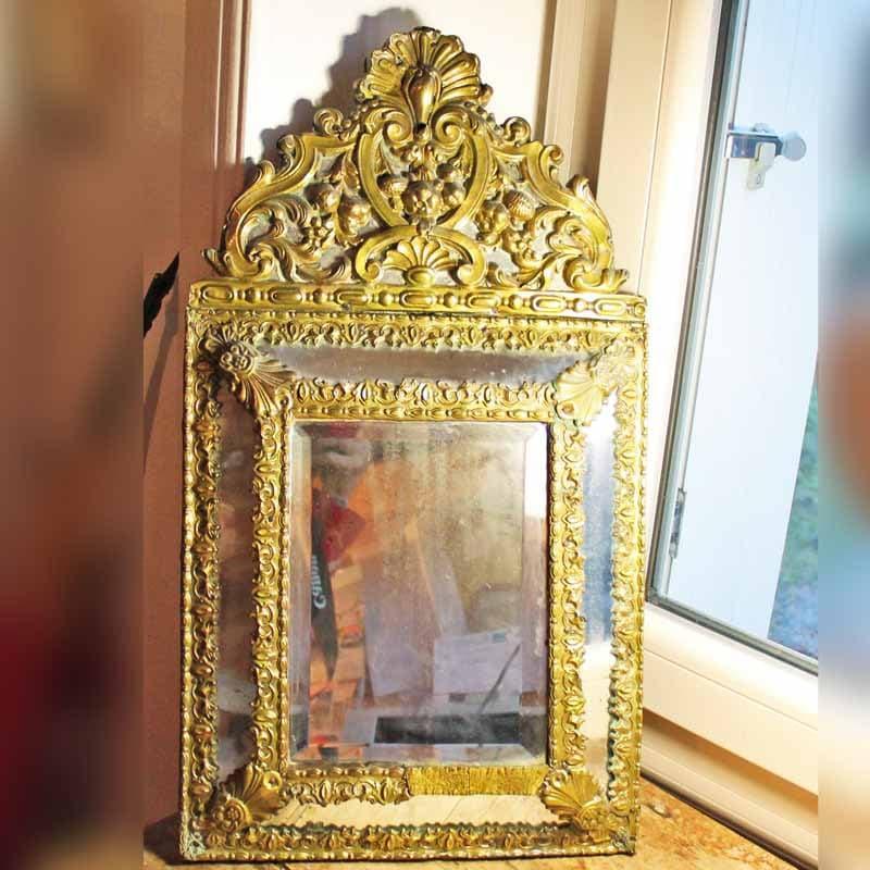 Antique 19 si cle parclosed miroir fran ais miroir vintage for Miroir francais