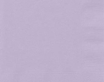 20 Ct Strong 6 1/2 Inch Dinner Size disposable Paper Napkins In Lavender - Summer Luncheon - Birthday - Shower - Tea Party - All Occasion
