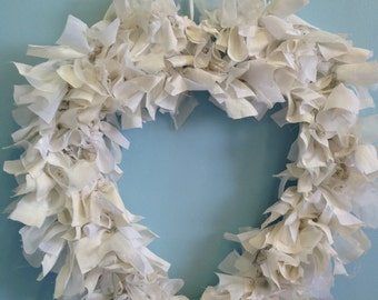 Wedding rag wreath