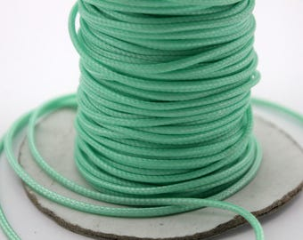 Sale 100 Yards/Roll 2mm Turquoise Wax Cords, Environmental Protection Wax Cords WS522
