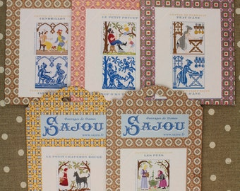 Buy together: five Perrault Fairy Tales pattern charts