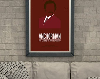 Anchorman Film Poster Movie Comedy Ron Burgundy Legend Will Ferrell