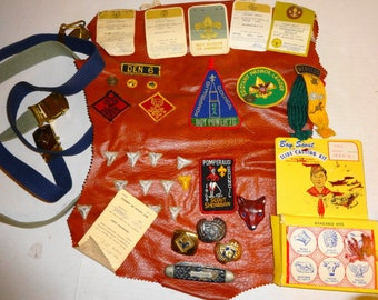 Vintage Boy Scout Lot, All from same estate. Pins Badges, etc.