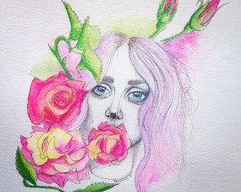 Original Drawing - Kesha Rose