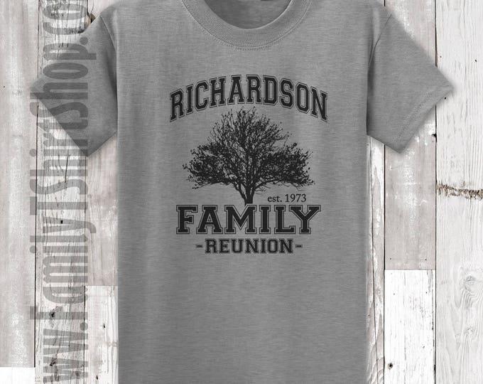 Family Reunion T-Shirts - Tree Customizable