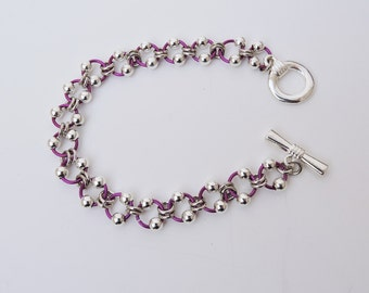 Chainmaille Bracelet, Chainmaille Jewelry, Chain Link Bracelet, Gift for Her