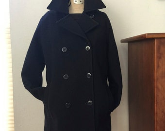 Black Medium Pea Coat