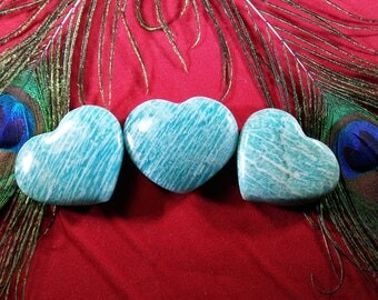 Large Hand Carved Amazonite Heart
