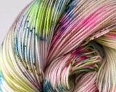 Happy Accidents - Hand Dyed Sock Yarn - 80 sw merino/20 nylon