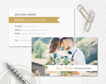 Photography Business Card Template - Instant Download, Photoshop Template for Photographers, Business Card Design, Photographer Marketing
