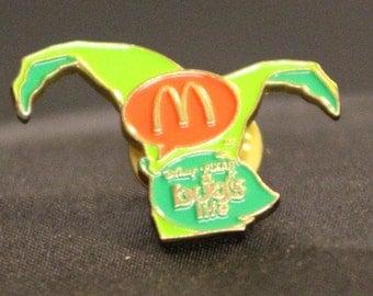 Vintage McDonalds A Bugs Life pin Disney Pixar Leaf Pin