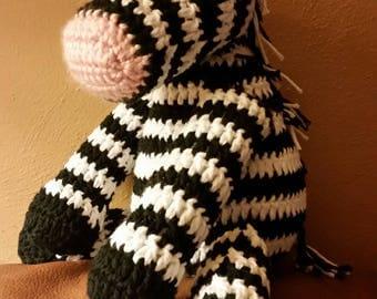 crochet stuffed zebra