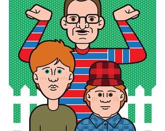 Adventures of Pete & Pete 11x11 print
