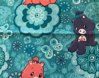 Blue Care Bear Cotton Fat Quarter Quilting Fabric 500mm x 500mm