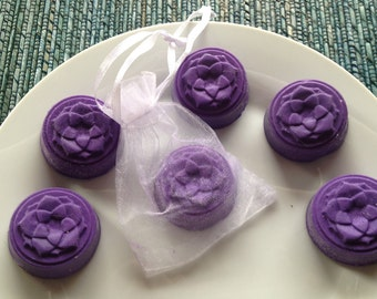 Lotus Flower Guest Soaps - Set of 6