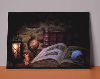 Old Books | Mirror Wrap Professional Canvas