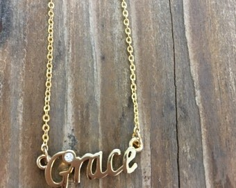 Grace Necklace in Gold