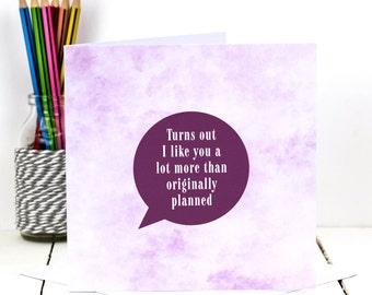 Valentines Card; Card For Girlfriend; Card For Boyfriend; Love Card; Funny Love Card; GC415