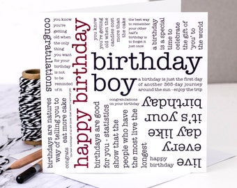 Birthday Card; Birthday Card For Him; Card For Men; Middle Age Man Card; Card For Husband; GC326