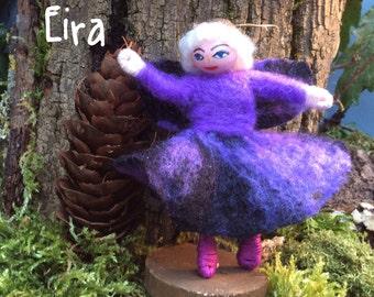 Wool felted fairy, Welsh wool fairy ,minature fairy.