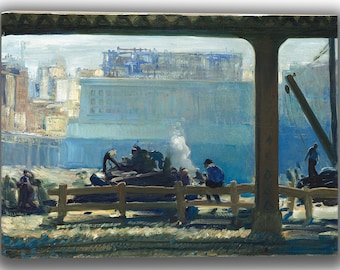 George Bellows Blue Morning. Fine Art Canvas. (04052)
