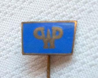 Vintage Enamelled Brass Pin, Mystery Pin