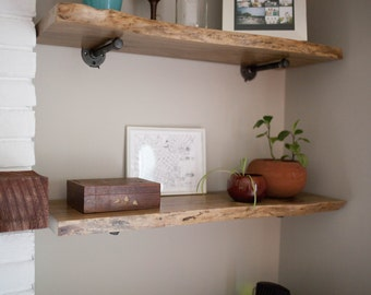 Live Edge Wood Shelf