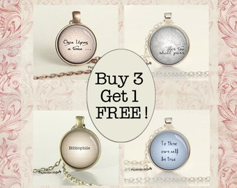 Jewelry Sale - Quote Necklace - B3G1 - Discount - Buy 3 Get 1 FREE -  Sale