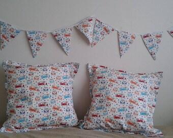 Caravan Awning Bunting & matching Caravan Cushion Covers