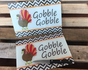 Gobble Gobble Cutting Board | Thanksgiving | Cutting Board | Turkey | Gobble Gobble | Thanksgiving Decor | Fall Decor | Give Thanks