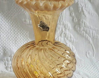 Vintage Amber FENTON VASE