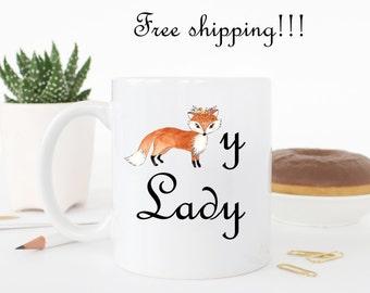 Foxy lady, funny mug, funny coffee cup