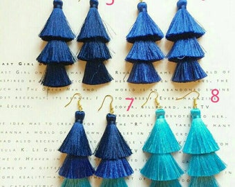 Neon Tassel Earrings for  Summer Colorful accessories Gift Red tassel earrings