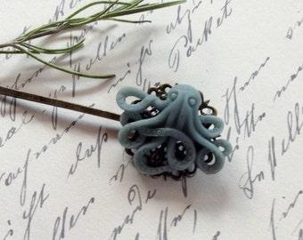 Hair Clip Grey Octopus