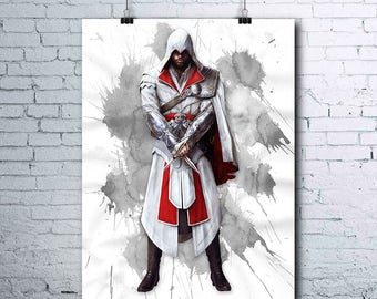 Assassin's Creed - Ezio Auditore - Assassins Creed Poster - Assassin's Creed Print - Assassin's Creed Printables - Games Wall Art