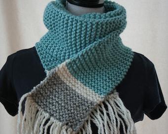 Hand Knit Scarf / Knit Scarf / Handknit Scarf / Knitted Scarf