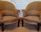 Pair of French Vintage Louis Philippe Tub Chairs inc. Reupholstery (exc. Fabric)