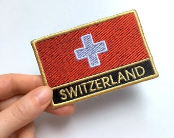 Switzerland Embroidered Flag Patch