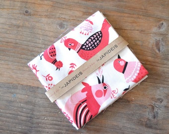 Fabric fat quarter birds, 50 x 55 cm Kokka