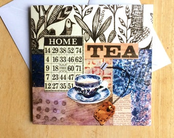 Greeting card for tea lovers, inside left blank for your own special message