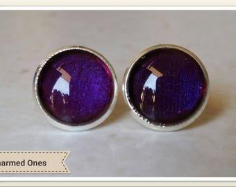 Plumb stud earrings